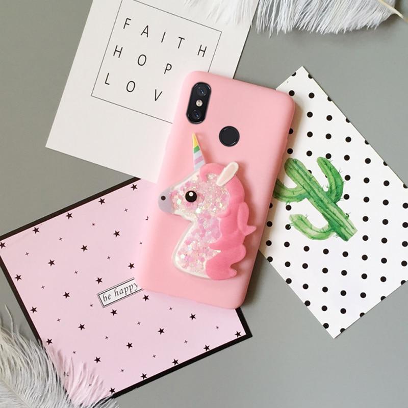3D Love Heart Unicorn Cover For Xiaomi Mi 8 SE A1 5X Mi Max 2 Mix 2S Case For Xiaomi Redmi S2 5A 5Plus 4A 4X Note5a Note3