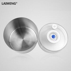 Image 5 - Laimeng Recipiente A Vácuo Para Recipientes de Armazenamento De Alimentos Hermético Vasilha De Inox com Bomba de Trabalhar com Aferidor Do Vácuo 2 pçs/lote S164