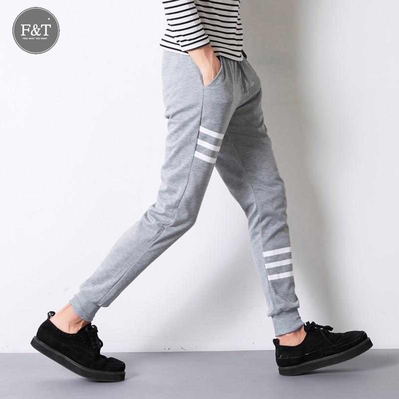 Jogger Pants Outdoors Men 2016 Stripe Print Harem Pants New Spring Autumn Hip-hop Men Slim Casual SweatPants Mens Jogger
