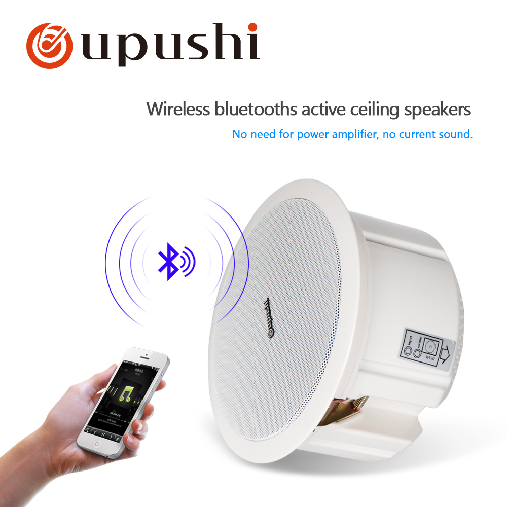 Home Bluetooth Ceiling Speakers 6.5 Inch In Wall Speaker White Roof Loudspeakers Oupushi Pa System 20w Home Audio Mobile Speaker