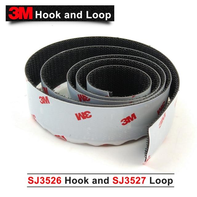 "3M SJ3526 SJ3527 Hook and Loop Scotchmate Reclosable Fastener 1""*50yard one set"