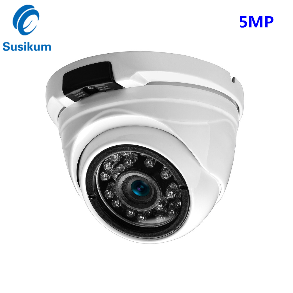 5Megapixel Security Camera Dome 3.6mm Lens Vandalproof Metal Night Vision Surveillance Analog Camera BNC Video Output5Megapixel Security Camera Dome 3.6mm Lens Vandalproof Metal Night Vision Surveillance Analog Camera BNC Video Output