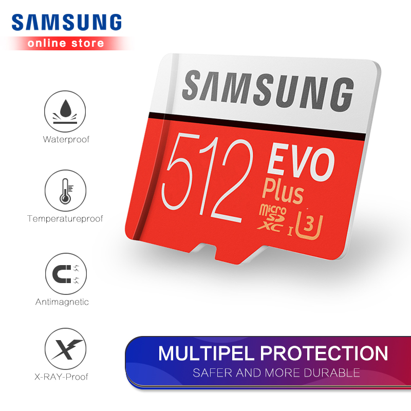 Carte mémoire Samsung Micro Sd Evo Plus 512 go Sdhc Sdxc Grade Class10 C10 Uhs-1 Tf cartes mémoire Flash 4k Microsd - 4
