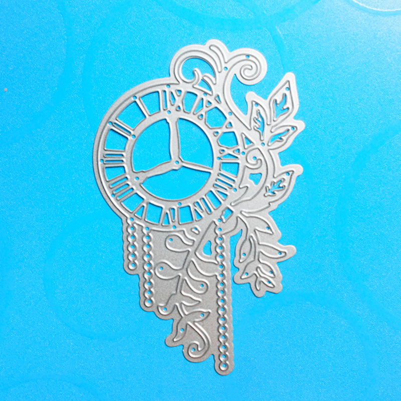 YLCD807 Reloj de Flores Troqueles De Corte De Metal Para Scrapbooking Plantillas DIY Álbum Tarjetas De Papel Decoración Carpeta de Grabación En Relieve Die Cutter