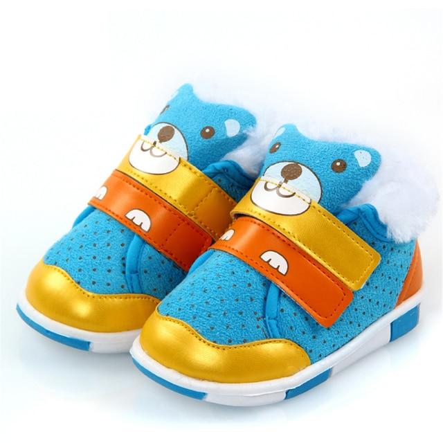 Winter Baby First Walker Shoes Winter Newborns Boy Girl Warm Bebek Ayakkabi Newborn First Walkers Footwear Bear Sneakers 70A1021