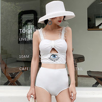 2019 Bikini Bathing Suit Push Up Swimsuit Female Plus Size Women Skirt Three Piece New Southeast Asia Solid Spandex Sierra
