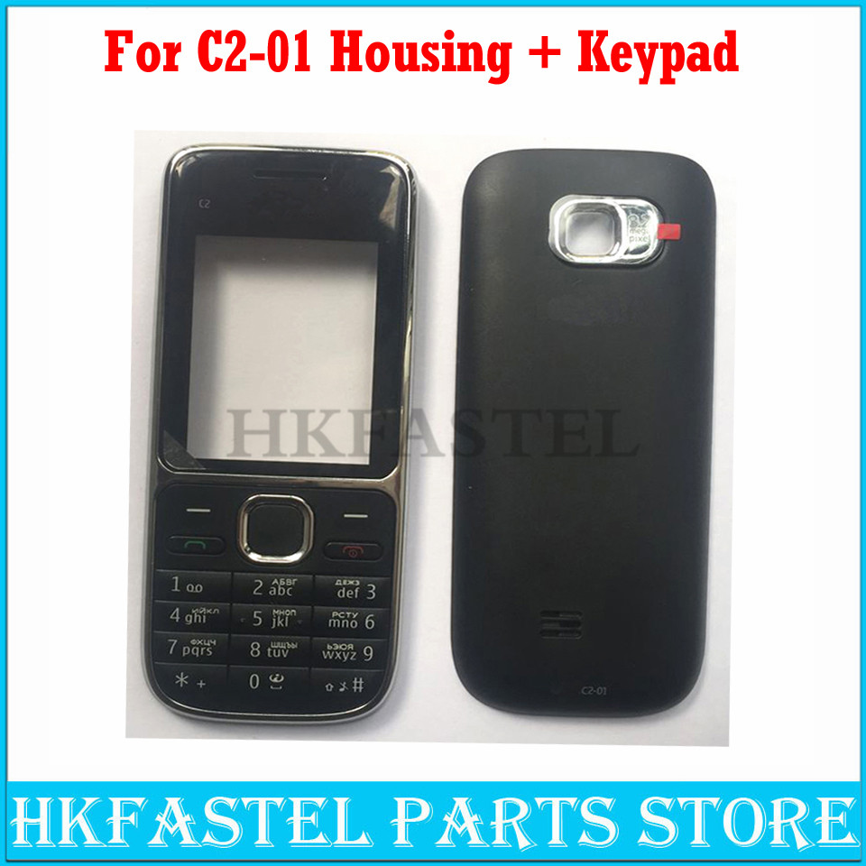 For Nokia C2-01 New Mobile Phone Housing Cover Case+English / Russian / Arabic / Hebrew Keypad ( Not Middle Cover )