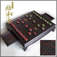TZ vegetarian old mahogany crafts Suanzhimu China chess table red sandalwood carvings dual purpose chess set size
