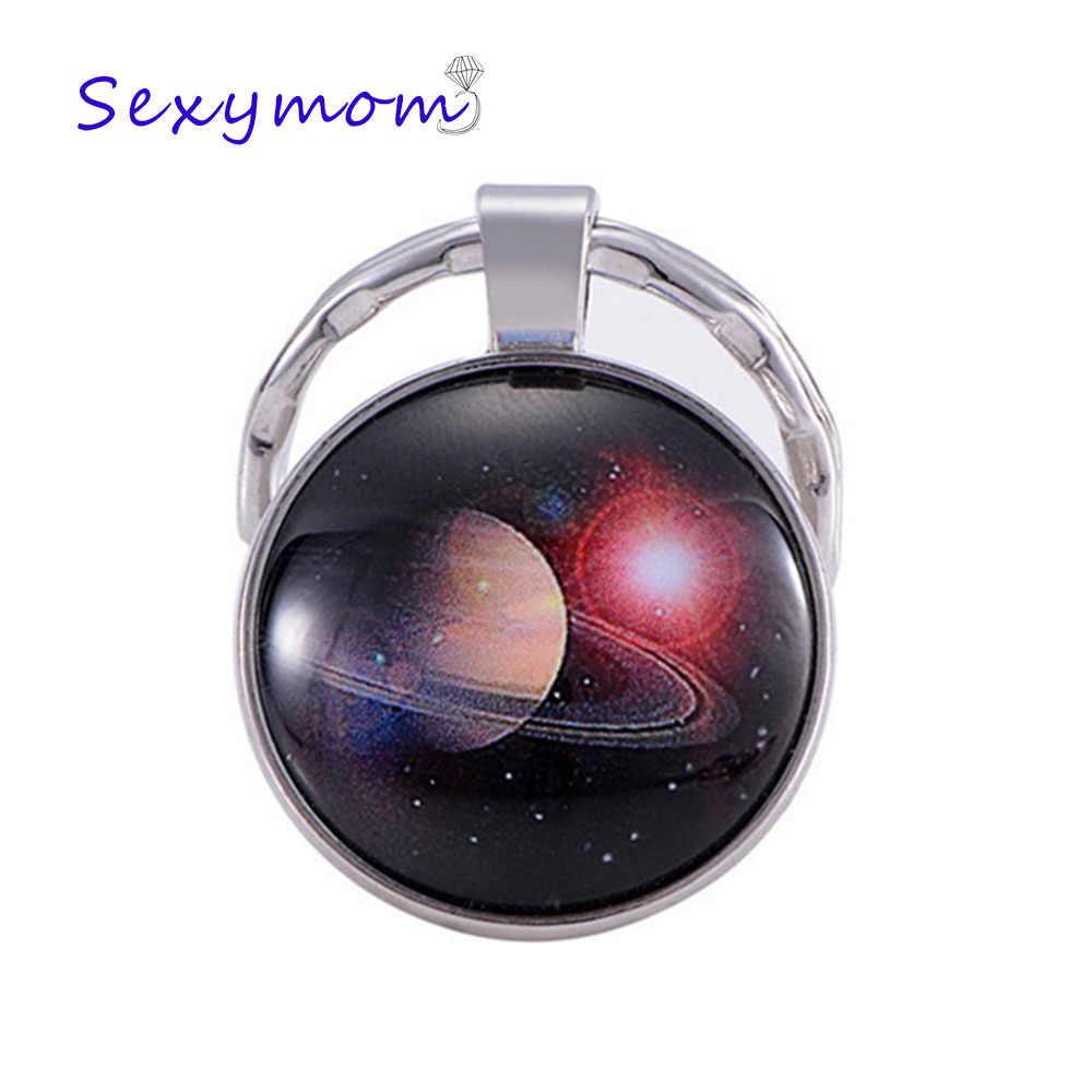 Sky Star Blue Earth Time Gem Mars брелок ювелирный галактика Вселенная Космос планета подвеска брелок на подарок для друзей