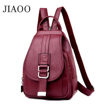 JIAOO women leather backpack fashion backpack school bags for teenage girls waterproof female backpacks women bagpack mochila