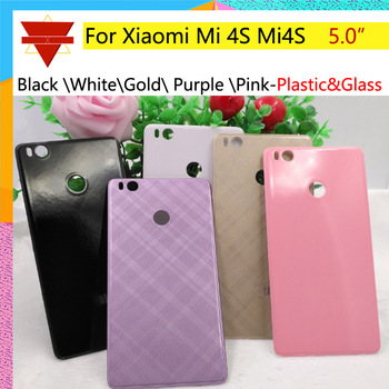 10pcs\lot Battery cover For Xiaomi Mi 4S Mi4S Back Cover Door Housing Case Chassis shell For Plastic Material