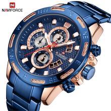 2020 NAVIFORCE mode hommes montres haut de gamme marque militaire mâle horloge analogique Quartz montre hommes Sport chronographe montre