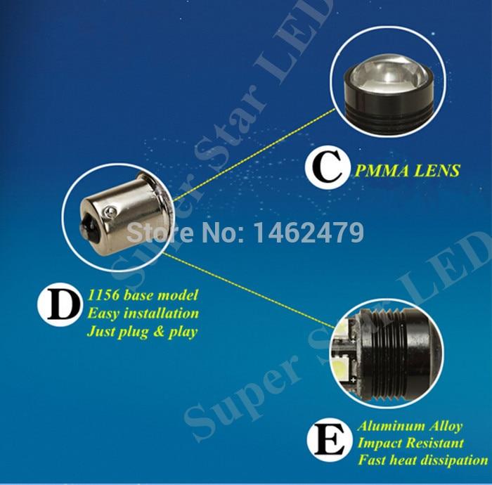 2 x Vit 6000K 1156 7506 P21w Canbu Inga fel Q5 Chips LED-glödlampor - Bilbelysning - Foto 3