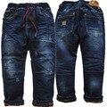 3991 muito quente inverno meninos calças jeans calças jeans e lã Double-deck crianças roupas do menino das crianças moda