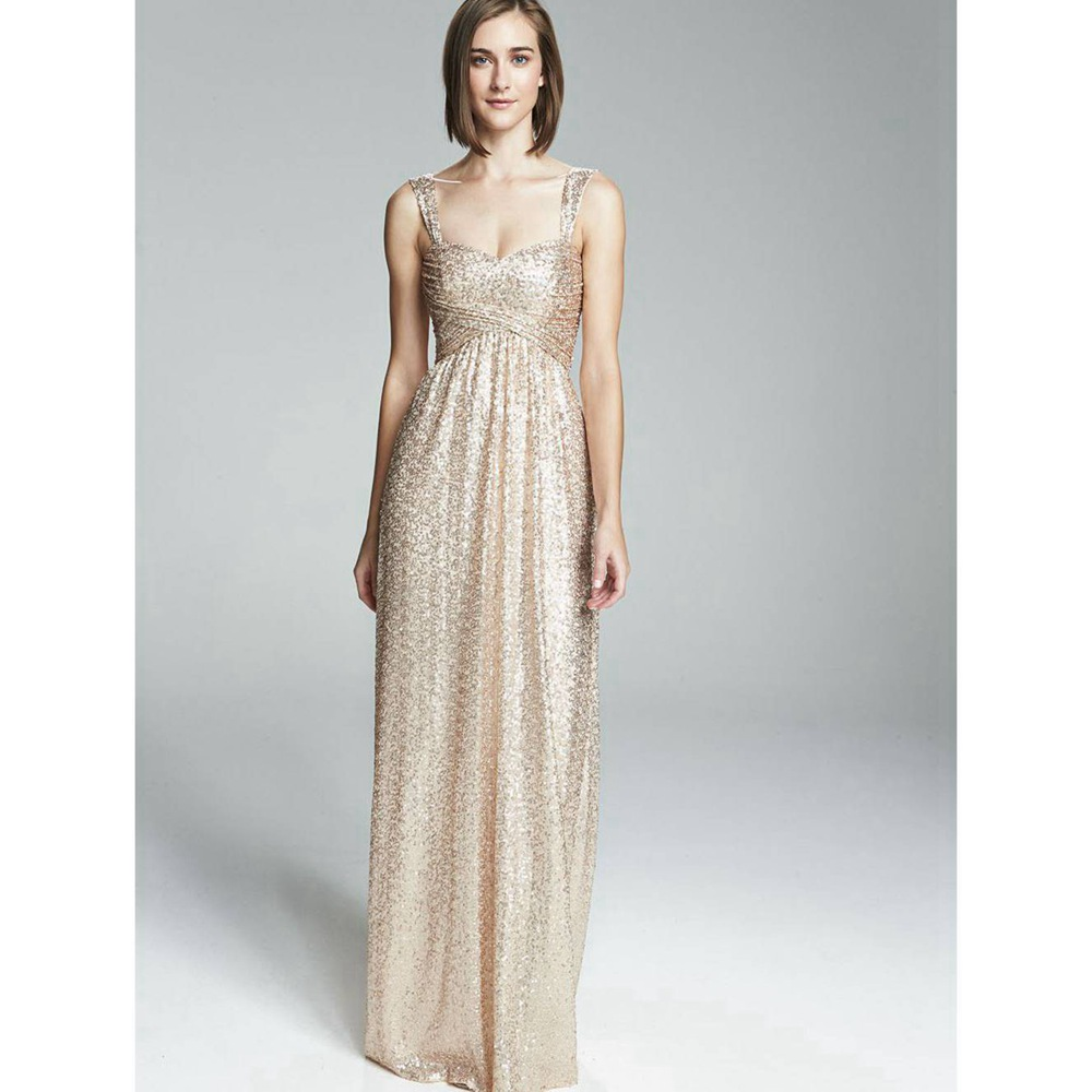 Collection Gold Long Dresses For Bridesmaid Pictures - Weddings by ...