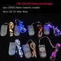 1 M 10 leds 9 fio de prata Cores guirlanda levou chrismas luz LED String Bateria Micro LED Luzes De Fadas Para Decoração do casamento