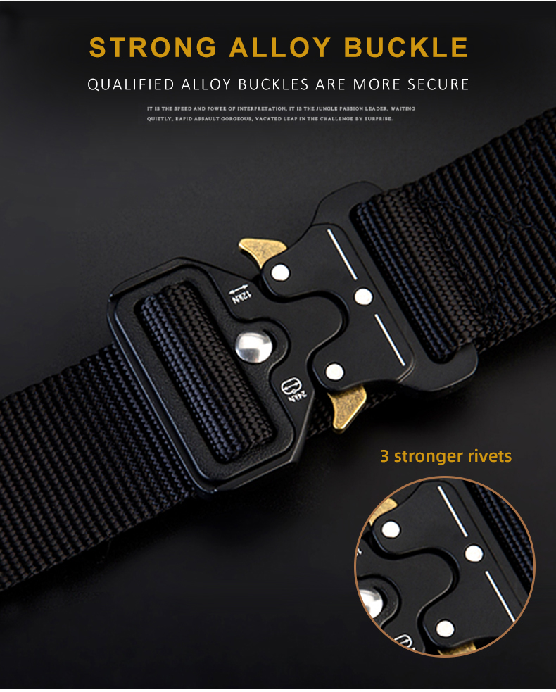 HTB11GBQXbj1gK0jSZFuq6ArHpXaK - NO.ONEPAUL Men's Military Classic Tactical Belt High Elastic Metal Hook Outdoor Training High Quality New Nylon Soldier Belts