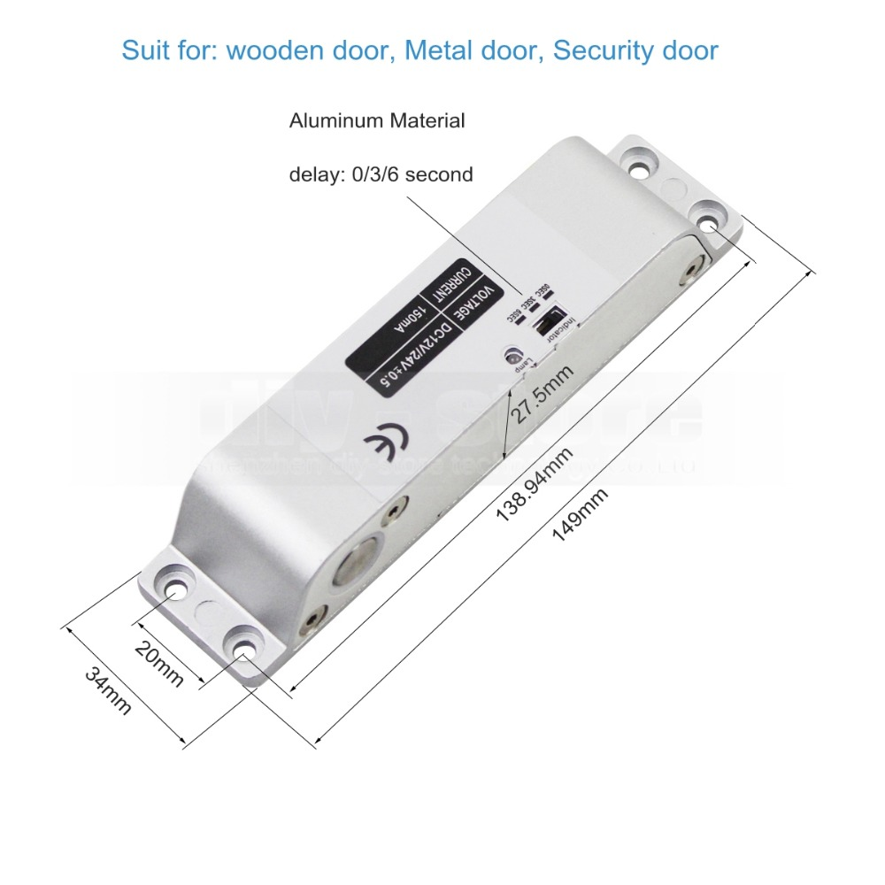 Diysecur 125khz Rfid Password Keypad Access Control Security System K2000 Wiring Diagram Full Kit Set Electric Drop Bolt Lock Mortise In Kits From