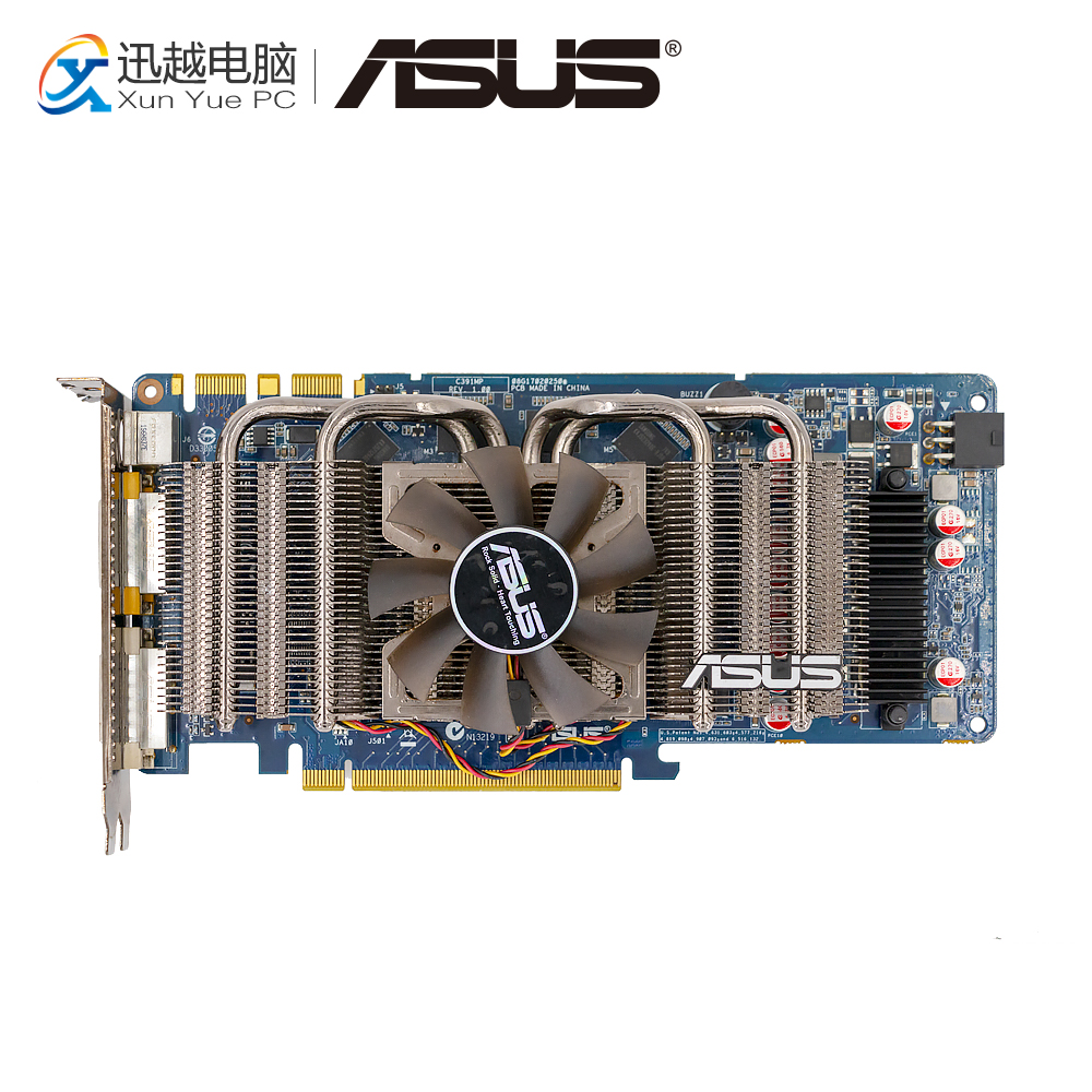 ASUS GTS 250 512M GDDR3 Original Graphics Cards 256 Bit ENGTS250 DK/HTDI/512MD3 Video Card VGA DVI HDMI For Nvidia GTS250 original for quadro fx580 512m dual dp interface graphics card