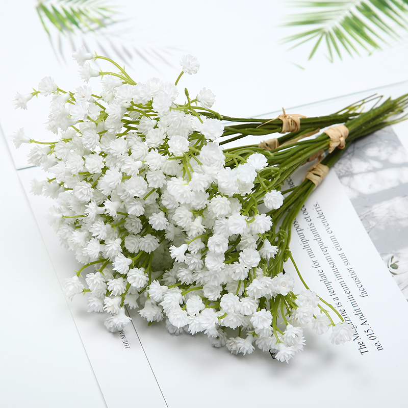 1pcs 20cm White Artificial Flower Decor For Home Table Wedding Flower Plastic Gypsophila Fake Flowers Photo Props Artificial Dried Flowers Aliexpress