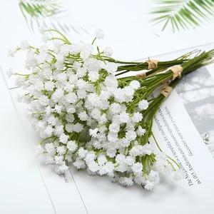 1PCS 20cm White artificial flower decor for home table wedding flower plastic Gypsophila Fake Flowers Photo Props