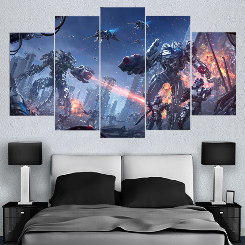 5 Panels Home Decor Wall Art Hot Game Canvas Paintings HD Printed Framed Or Unframed Canvas Painting For Bed Living Room