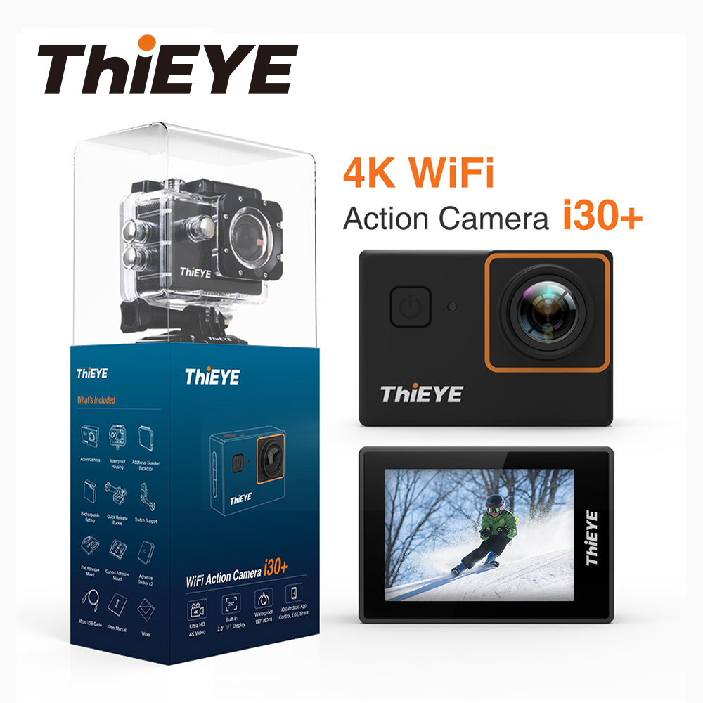 ThiEYE i30 + WIFI 4 K Cámara de Acción Full HD impermeable 2,0