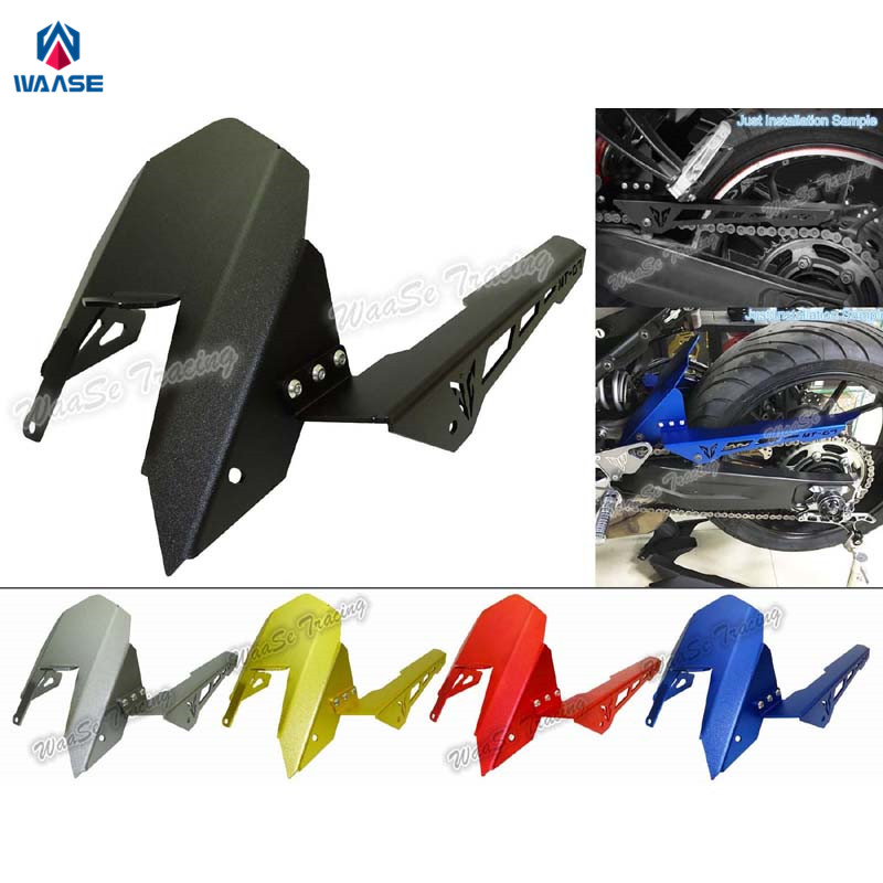 Motorcycle Rear Fender Plate Mudguard Tire Wheel Hugger Mud Splash Guard Fairing For Yamaha MT-07 MT07 FZ-07 FZ07 2013 2014-2017 waase motorcycle rear back drive chain guard mud cover panel shield fairing cowl protector for yamaha yzf r3 r25 mt 03 mt 25