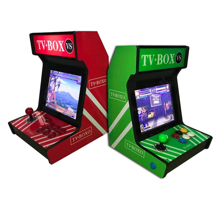12 inch mini home desktop arcade frame machine game console with screen rocker amusement