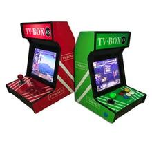 цена на 12 inch mini home desktop arcade frame machine game console with screen rocker console amusement machine