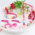 Hair Jewelry 1 Set=6 Pcs Colorful Candy Beads Necklace Bracelet  Hairbands Hairclips For Children Girl Accessories Jewelry Sets