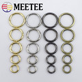 5pc 16-38mm Meetee Metal Spring Gate O Ring Openable Keyring Bag Belt Strap Chain Buckles Snap Clasp Clip Trigger Leathercraft