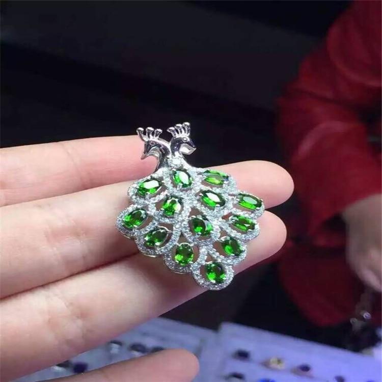KJJEAXCMY boutique bijoux 925 pur argent naturel diophane diamant pendentif collier incrusté de phoenix micro-incrustation bijoux - 4
