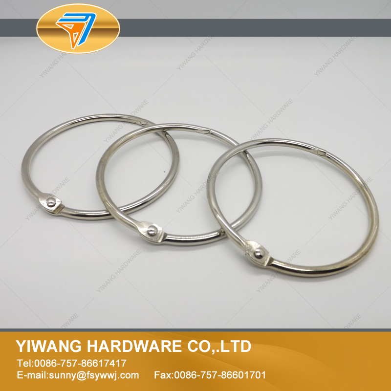 manufacturer direct wholesale metal book binding ring, nickel color ...