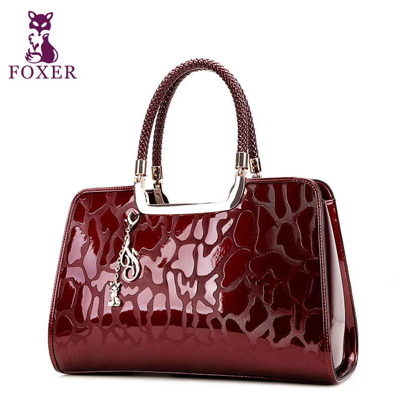 FOXER femmes en cuir sacs à main De Luxe 2018 designer marque fourre-tout  dames vintage bracelets sacs de soirée de mode split en cuir sac à main 36f1b847ddcc