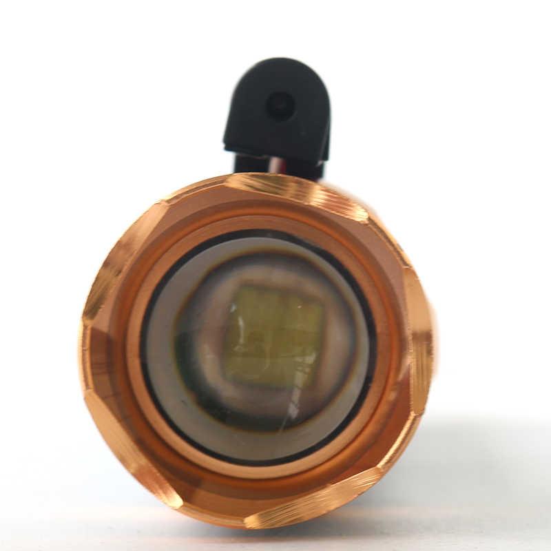 Zoom Torch lazer Litwod Xm kırmızı pil T6 + Z90 şarj edilebilir 18650 kendini savunma fonksiyonu ile Led el feneri-l 111 1 * veya 3 *