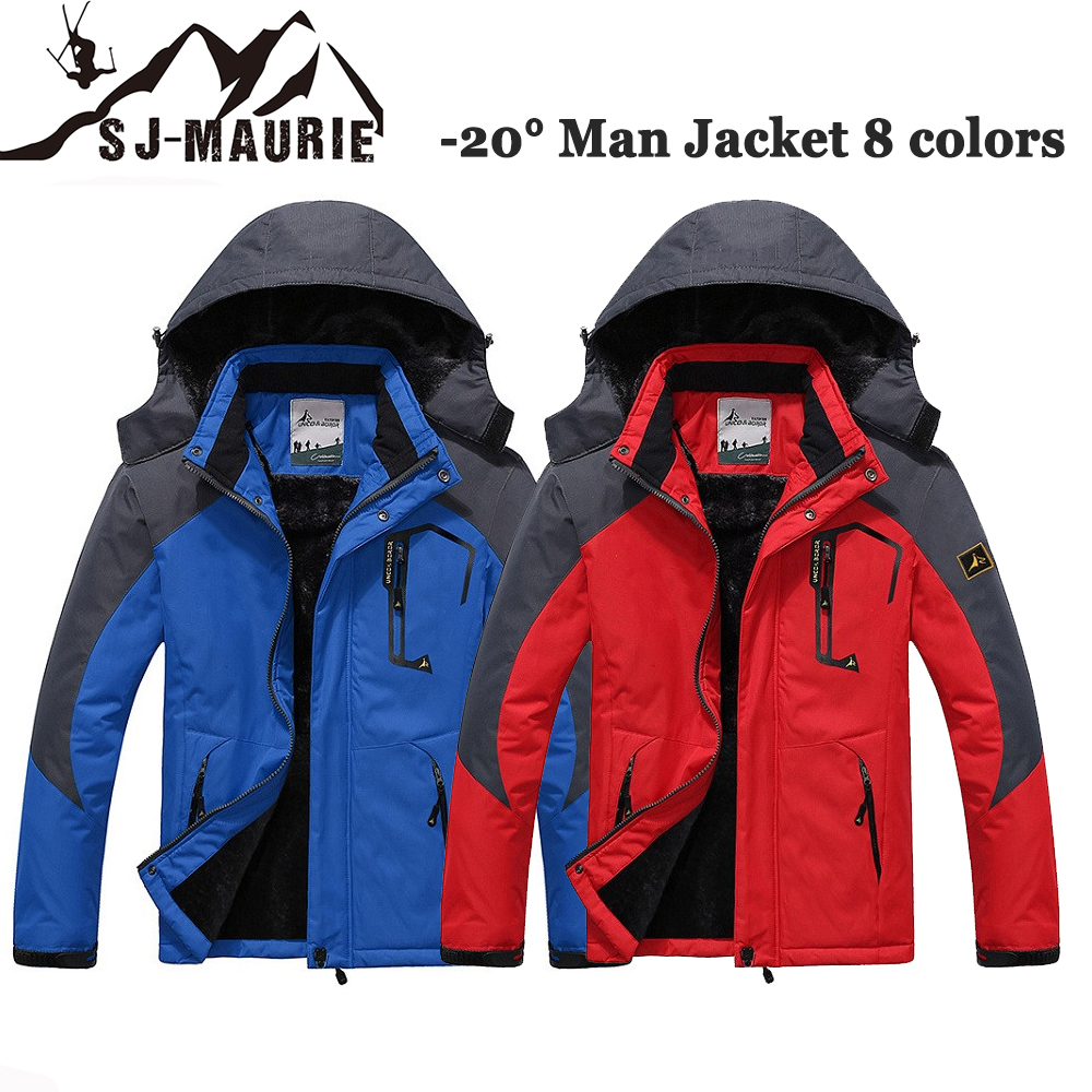Outdoor Man Hiking Jackets Windproof Camping Skiing Hunting Overcoat Autumn Winter Thermal Fleece Jacket Plus Size L 6XL-in Hiking Jackets from Sports & Entertainment    1