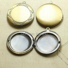 10 шт. 32 мм медь античная бронзовая круглый старинные подвески подвеска фоторамка DIY ожерелья сумки настройки ювелирных аксессуаров