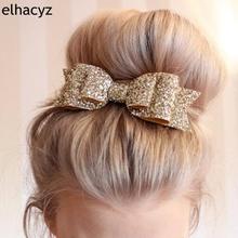 1szt detalicznych włosów Clip kobiet Baby Girl Big Glitter włosy Bow Kids spinki do włosów Clip dla dzieci Akcesoria do włosów Toddler nakrycia głowy tanie tanio Headwear Poliester Barrettes Unisex hair accessory Moda Elhacyz Stałe