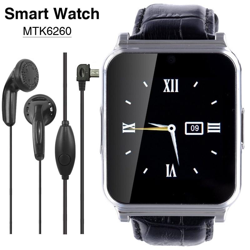 NEW MTK6260 Wearable Devices Bluetooth Smart Watch W90 Men Luxury Leather Smartw