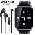 Novos dispositivos wearable mtk6260 bluetooth smartwatch smart watch w90 homens de couro de luxo vista full hd de tela para telefones android ios