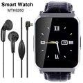 Nuevos dispositivos portátiles mtk6260 bluetooth smartwatch smart watch w90 hombres de cuero de lujo vista completa pantalla de alta definición para ios android móviles