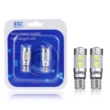 цена на DXZ 2PCS T10 LED canbus W5W 194 Interior Xenon White LED CANBUS NO OBC ERROR t10 10SMD 5630 5730 with Lens Projector Aluminum