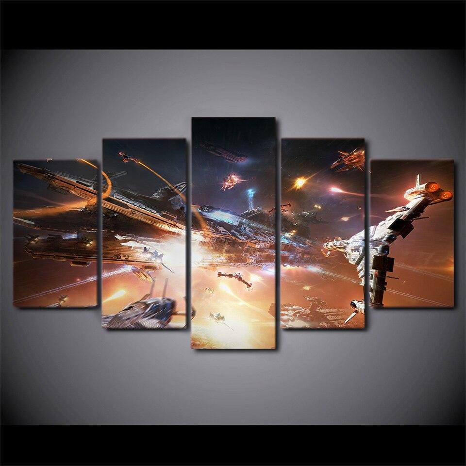 5 Teile/satz Gerahmte HD Gedruckt Space Star Wars Raumschiff Bild ...