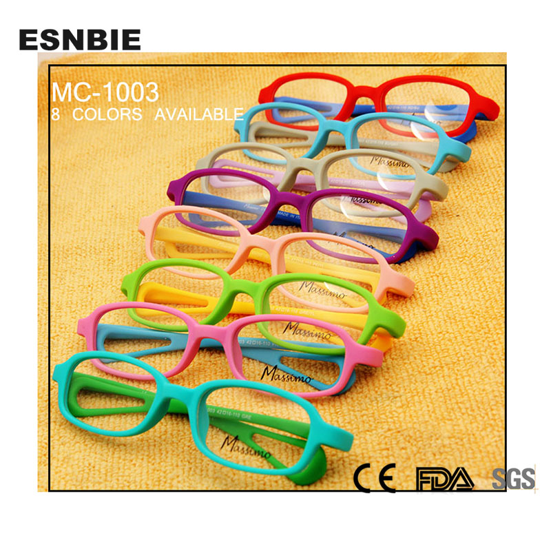 098eee348e60d Esnbie tr90 memory bendable kids glasses optical frame children double  color fashion girls boys kids glasses frames mc-1003