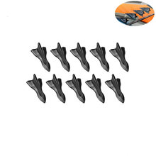 Black pointed shark fin carbon fiber tail of automobile refitting decorative roof 10pcs