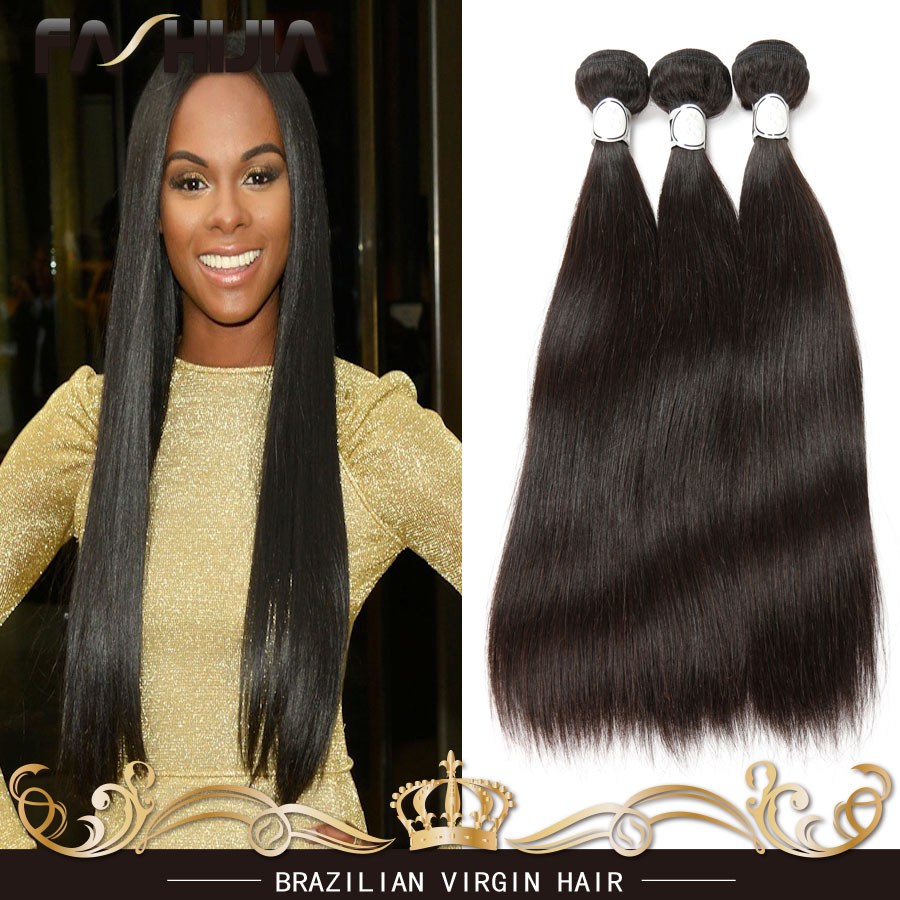 8A Brazilian Virgin Hair Straight Unprocessed Virgin Brazilian Hair Human Hair Weaves Straight Brazilian Hair Weave 4 Bundles