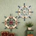 Artesanato em madeira de estilo americano retro adesivos de parede criativo café loja de decoração Pingente náutico timoneiro decoração decoração da casa do vintage