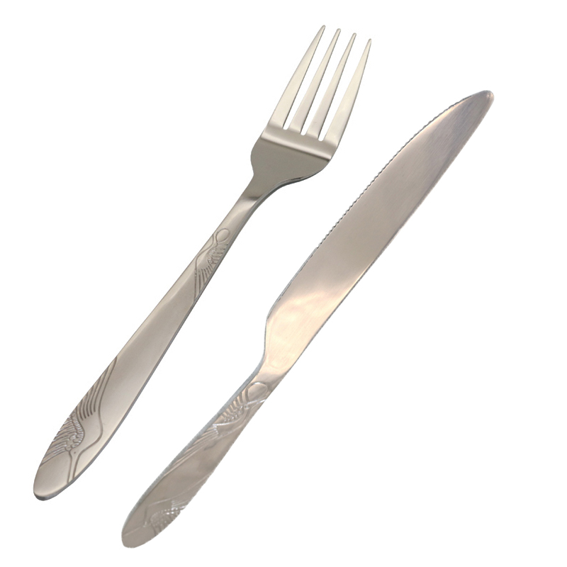 1 Set Of Stainless Steel Cutlery Sets Restaurant Dining Steak And Seafood Buffet Kitchen Tool