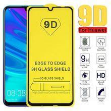 5D/9D For Huawei Psmart 2019 nova 2 lite الزجاج المقسى لهواوي الشرف 10i 6X 7A 7C واقي للشاشة غطاء كامل زجاج عليه طبقة غشاء رقيقة